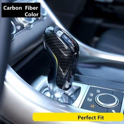 Car Gear Shift Handle Knob Cover Trim For Land Rover Range Rover Sport 2014 17 Carbon Fiber Color
