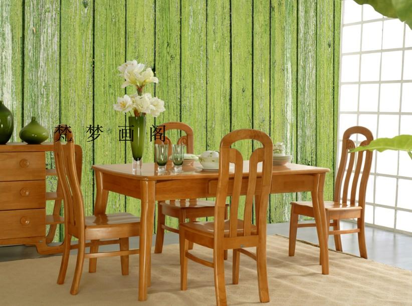 ФОТО Free Shipping green wood modern minimalist style wallpaper non-woven wallpaper background mural