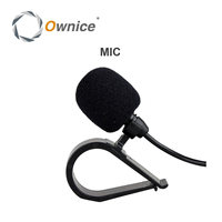 High Quality Special Black Hands Free Clip On 3 5mm Mini Studio Speech Microphone For Ownice