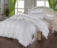 Hohe qualität baumwollgewebe entendaunen füllung weiße winter königin größe 200x230 cm quilt tröster bettwäsche