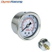 Fuel Pressure Gauge Liquid 0-160 psi Oil Press Gauge Fuel Gauge White Face Universal 1/8 NPT YC100917