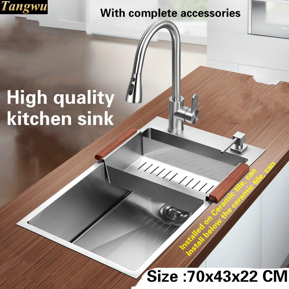 tangwu high quality food grade 304 stainless steel kitchen sink 1 2 rh aliexpress com high quality kitchen sink strainer high quality ceramic kitchen sinks