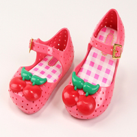 Memon Kids Shoes 2017 New Style Summer Girls Pvc Sandals Cherry Shoes Girl Sweet Style Hollow
