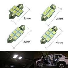 1 pcs Super Branco 41 39 36 31mm mm mm mm C5W 6 LED Festoon 5050 SMD Car Led auto Interior Dome Porta Lâmpada de Luz iluminação 12 v