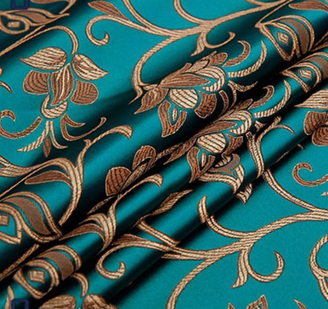Vintage Floral Brocade Fabric Damask Jacquard Apparel Costume