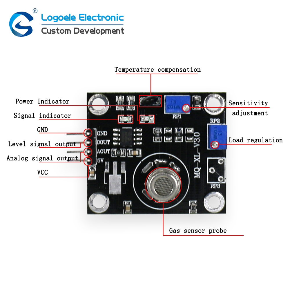 High quality Alcohol Gas sensor module MP-503 air quality alcohol smoke detection MP503 sensor module free shipping