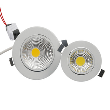 Super Bright Dimmable Led downlight COB Spot Light 3w 5w 7w 12w recessed led spot Lights Bulbs Indoor Lighting