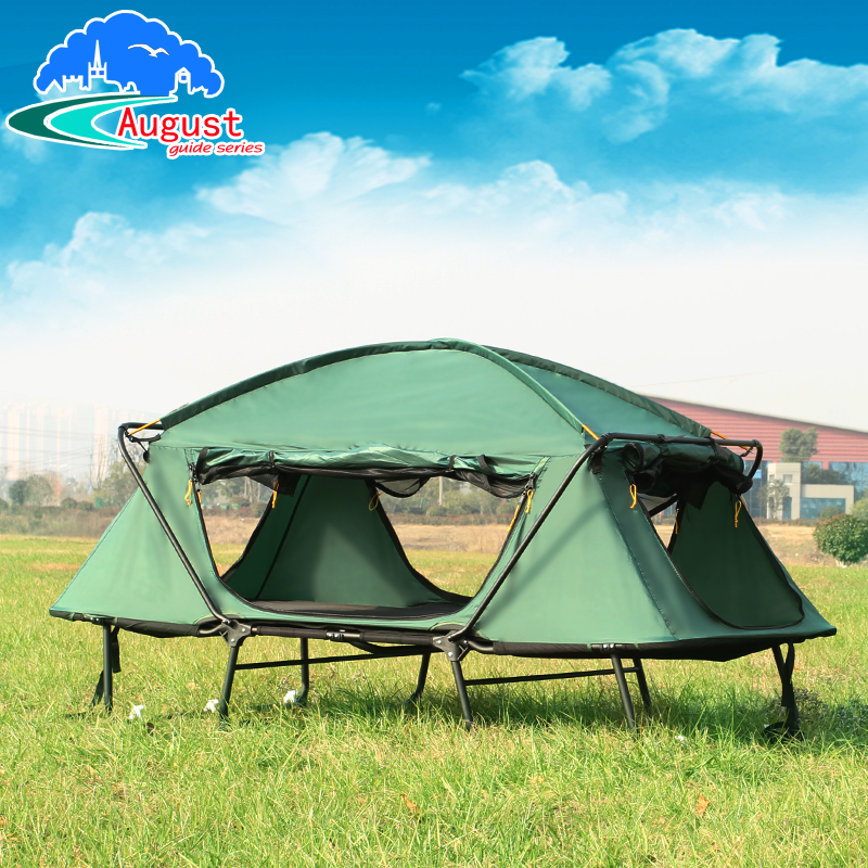 Outdoor extravagant 2 person waterproof high quality with folding bed automatic fishing beach outdoor camping tent high quality outdoor 2 person camping tent double layer aluminum rod ultralight tent with snow skirt oneroad windsnow 2 plus