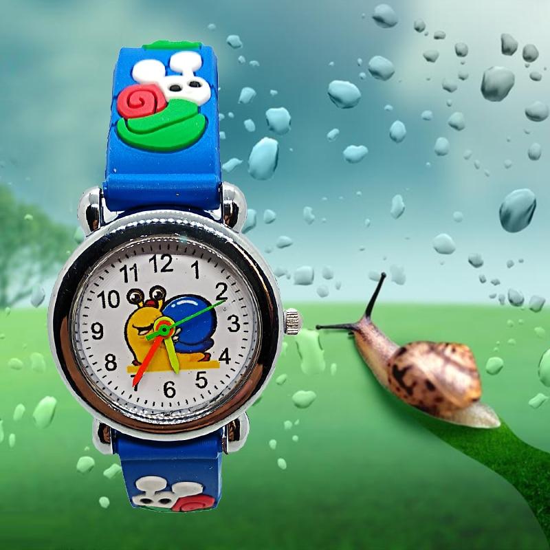 Cartoon Nature Snail Children Quartz Watch For Kids Boys Girls Casual Fashion Bracelet Wrist Watch Child Clock Relogio Garoto
