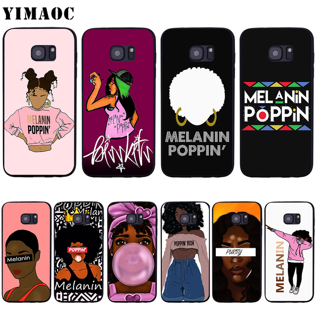 huge selection of a0ef3 d456e US $2.5 24% OFF|YIMAOC 2bunz Melanin Poppin Aba Soft Silicone Case for  Samsung Galaxy S6 S7 Edge S8 S9 Plus A3 A5 A6 Note 8 9-in Fitted Cases from  ...