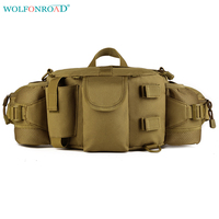 WOLFONROAD Men Tactical Waist Bag Running Waist Bags Fanny Pack Army BELT BAG Outdoor Military Hiking Cycling Bag Pack L SHZ 30