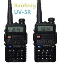 De $ number PCS BAOFENG UV-5R WALKIE TALKIE Negro jamón amateur radio de dos vías de doble banda vhf/uhf 136-174/400-520 MHz con el envío libre