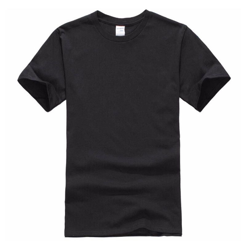 Europe Size Solid color 100% Cotton T Shirt Mens Black White T-shirts 2017 Summer Skateboard Tee Boy Hip hop Skate Tshirt Tops