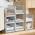 Guarda-roupa em camadas divisória prateleira compartimento de armazenamento armário defletor em camadas quadro dobrável organizador titular do quarto