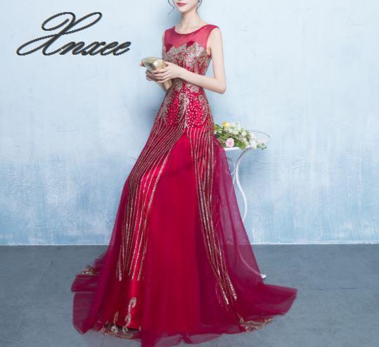 Dress 2019 new banquet dress Slim female