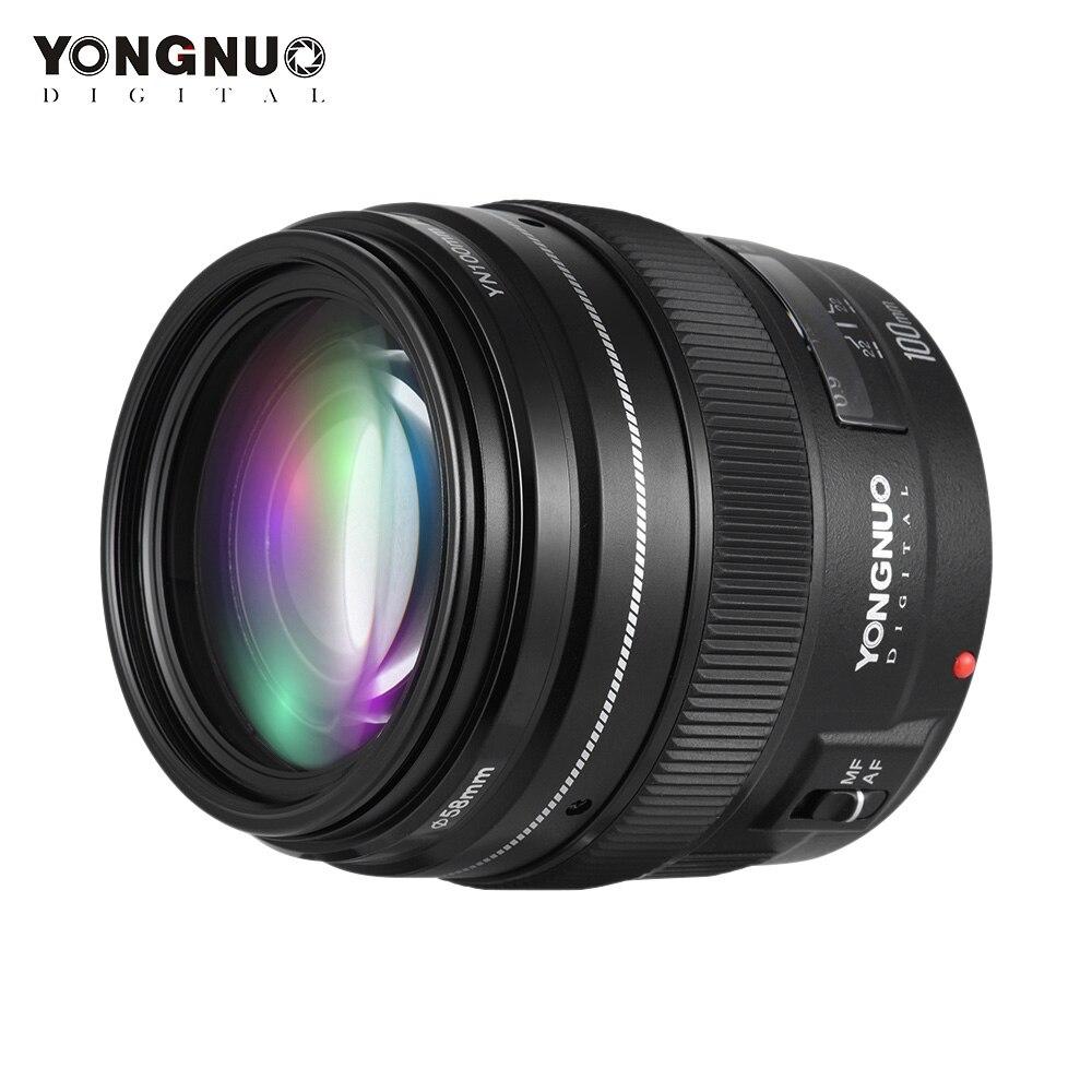 YONGNUO 100MM YN100mm F2 grand objectif téléobjectif moyen à grande ouverture pour Canon EF Mount 5D 5D IV 1300D T6 760D 1300d 6d 600d 80d