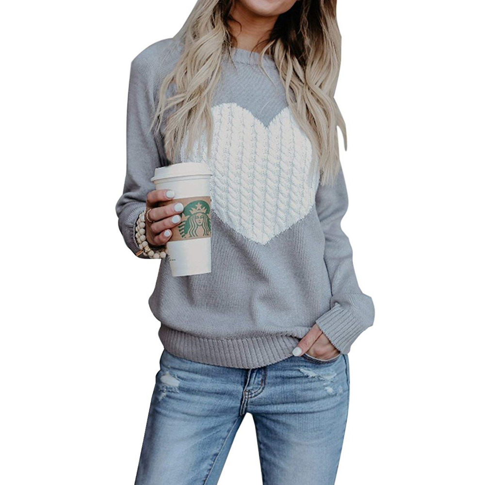 Femme Taille fabricant: Large , black//white//grey stripe Noir Essentials Crewneck Stripe Sweater