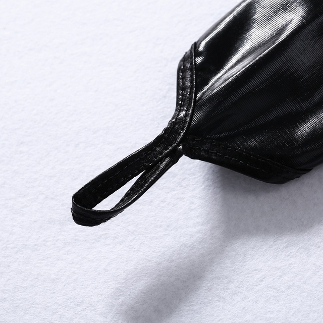 2020 Lady Women Wet Look Sexy Black Fingerless Arm Length Gloves Elastic Shiny Mid-Upper New Solid Fashion 3