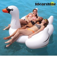 190*190*130 cm Summer Swimming Pool Party Super Giant Inflatable Color Fly Goose Swim Rings Beach Floating Water Air #62210