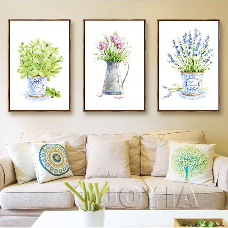 Botánico flor impresiones del arte minimalista planta lienzo pintura ...
