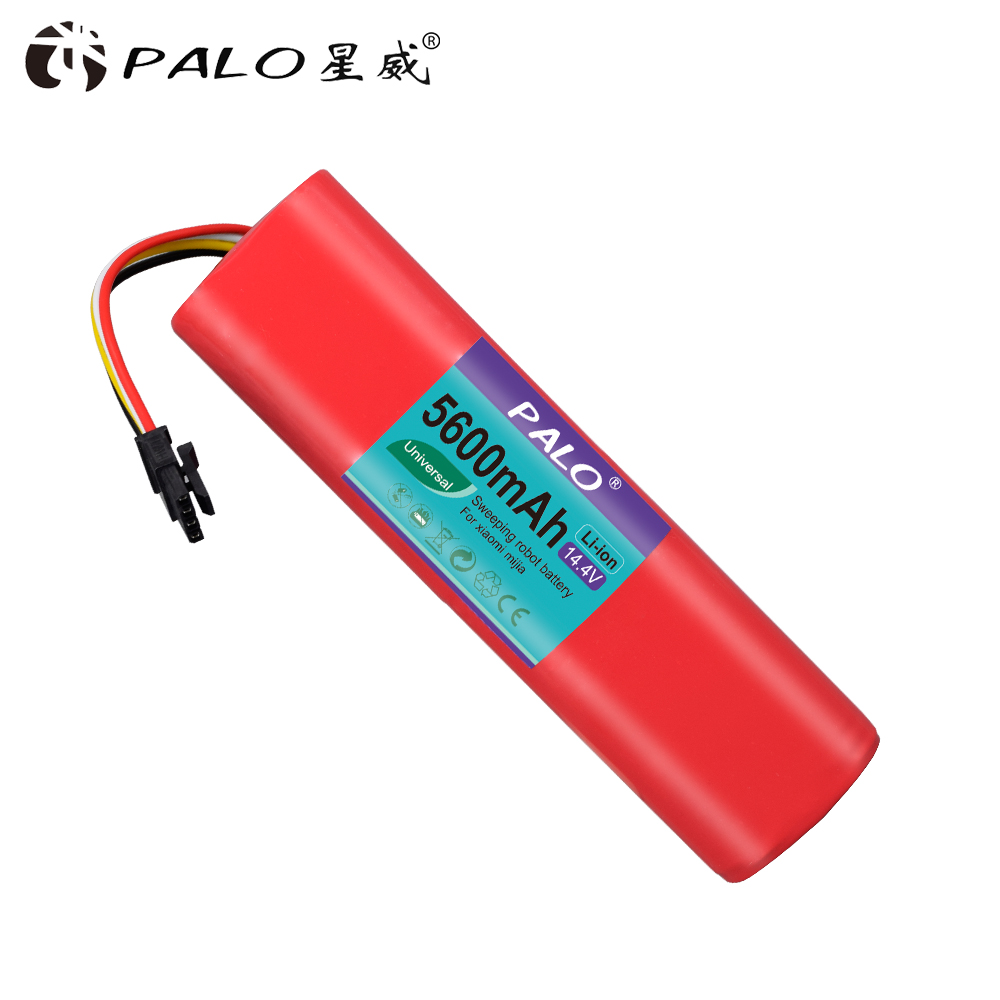 PALO li ion battery for Xiaomi robot roborock S50 S51 Battery 14 4V 5600mAh robot vacuum cleaner accessories parts in Replacement Batteries from Consumer Electronics