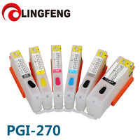 Refillable Empty Ink Cartridgel For canon MG7720 TS8020 TS9020 TS6020 with ARC chip PGI270 270 271 Grey