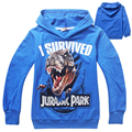 kids clothes jurassic world boys hoodies and sweatshirts dinosaur children t shirts dinosaurio park boys clothing sudadera