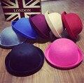 Woolen Baby Hat Summer Female Kids Korean British Jazz Cap Crimping Dome Small Hat Parent-child Meatball Cap