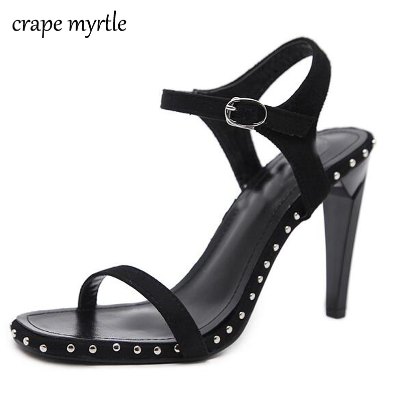 woman summer shoes sandals stiletto heel strappy sandals high heels pumps women open toe low heels fashion women shoes YMA166 rockstud toe post strappy pu sandals