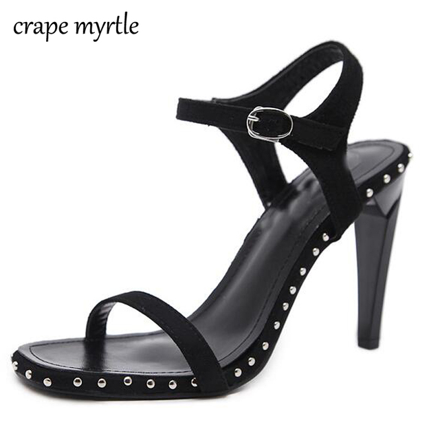 b5c2fa61d woman summer shoes sandals stiletto heel strappy sandals high heels pumps  women open toe low heels fashion women shoes YMA166