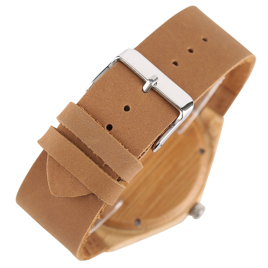 Natural Mens Wooden Wrist Watch Casual Dress Style Engraved Fish Handicraft Dial Light Bamboo Wood Relogio Gifts Genuine Leather 2017 (6)