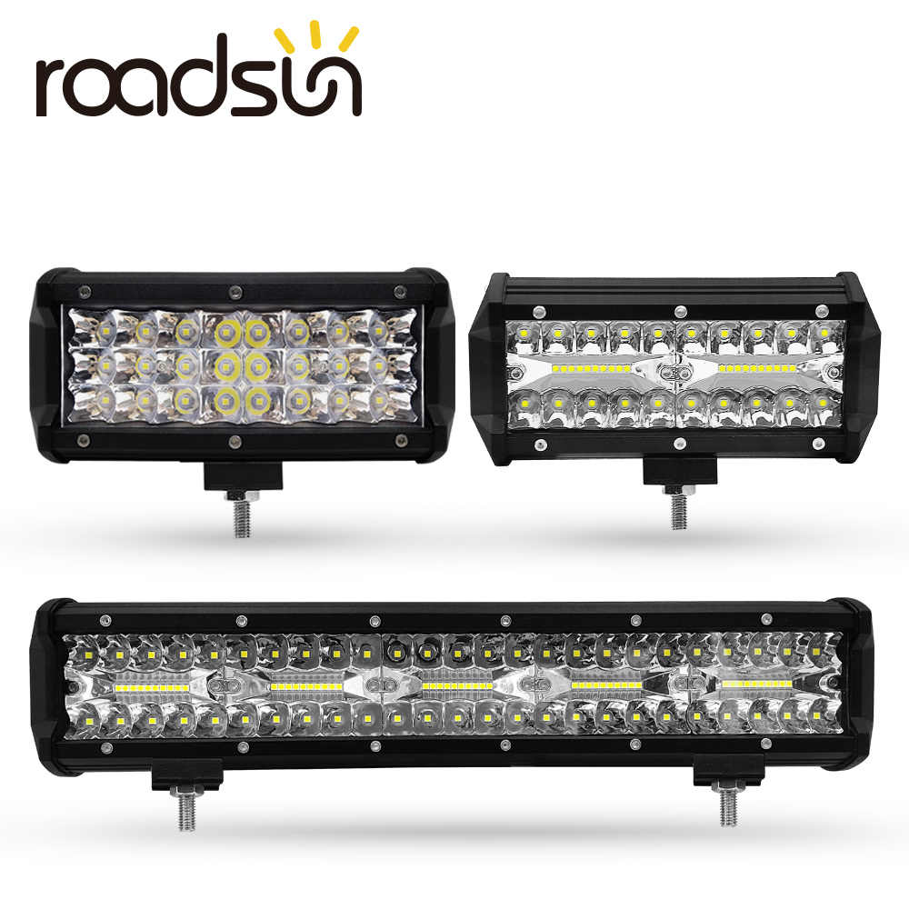 LED Work Light Bar 7/15 inch 72W 120W 300W LED Bar 6000K 7200LM 12000LM 30000LM 12V For Jeep Off-road SUV ATV Truck Boat Car 4x4