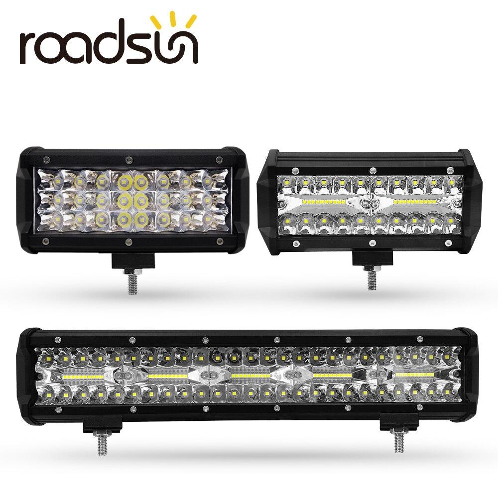 LED Travail Light Bar 7/15 pouces 72 W 120 W 300 W LED Bar 6000 K 7200LM 12000LM 30000LM 12 V Pour Jeep Hors-route SUV ATV Camion Bateau Voiture 4x4