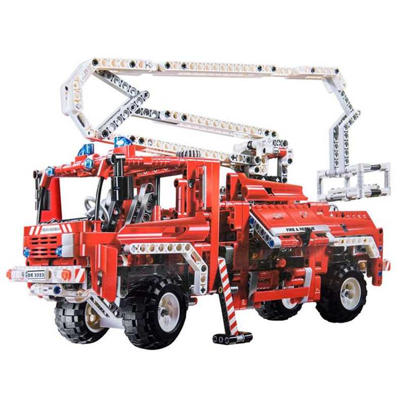 DIY Technic City Rescue Vehicle Fire Car Truck Building Blocks Eductional Toys for Children kids Gift Compatible with LegoinglyDIY Technic City Rescue Vehicle Fire Car Truck Building Blocks Eductional Toys for Children kids Gift Compatible with Legoingly