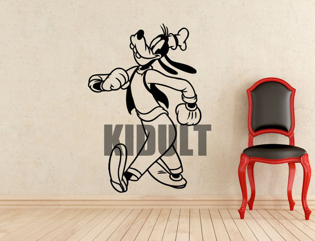 Muurstickers Slaapkamer Kind : Goofy mickey mouse cartoon muurstickers vinyl muurstickers thuis