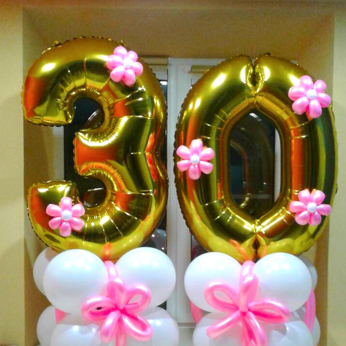 YORIWOO 32inch 62cm 30th Birthday Balloons Happy 30 Years Foil Helium Party Decorations Adult Men Women Favors In Ballons Accessories