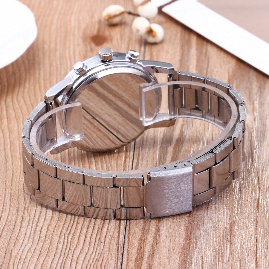 Men Quartz Watch Luxury Brand Business Stainless Steel Fashion Neutral Analog Wristwatch Steel Band Watch 5