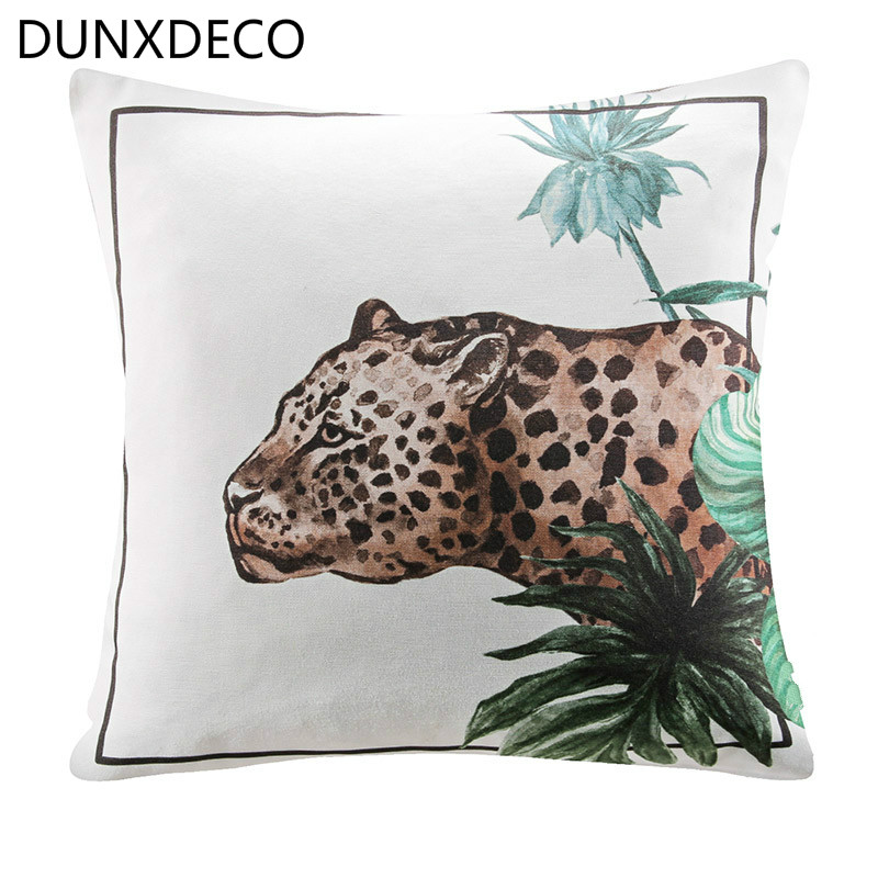 Dunxdeco Cushion Cover Decorative Pillow Case American