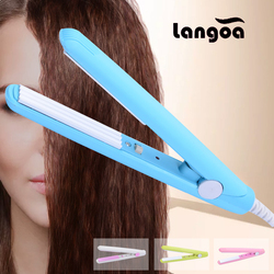 Free Shipping 2018 New Mini icon Ceramic Electronic Hair Straighteners Dry & Wet Professional Curler Styling Tools EU Plug