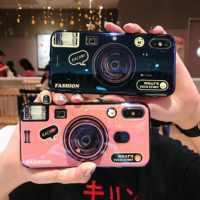 Funda de silicona TPU para cámara para Samsung Galaxy A50 A70 A80 A90 A60 A40 A30 M20 S10 5G S10 Plus S9 Note 9 funda de teléfono con soporte