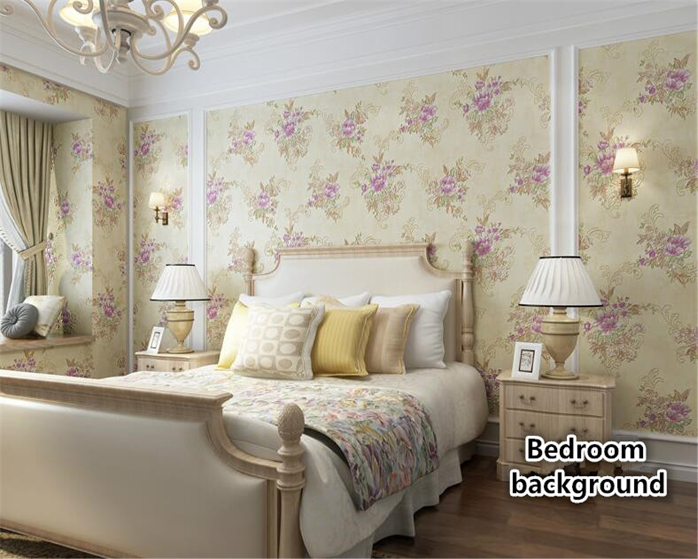beibehang Warm and simple pink roses wall paper bedroom living room hotel pastoral flowers embossed papel de parede 3d wallpaper the pink hotel