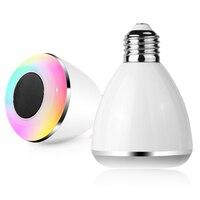 LED 6W Colorful Smart Home RGB White Wireless Bluetooth 4 0 Music Light Bulb Wireless Remote