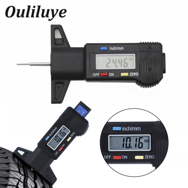 Digital Car Tyre Tire Tread Depth Gauge Meter Measurer ...