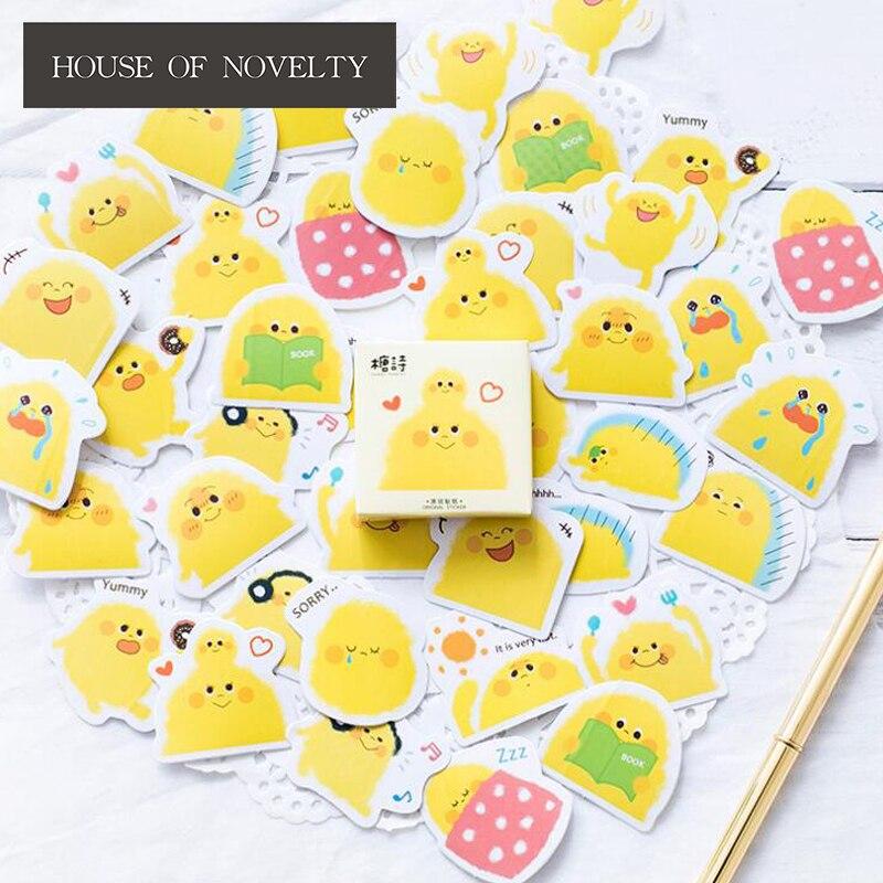 Yellow Pudding Pet Decorative Stickers Adhesive Stickers DIY Decoration Diary Stickers Box Package