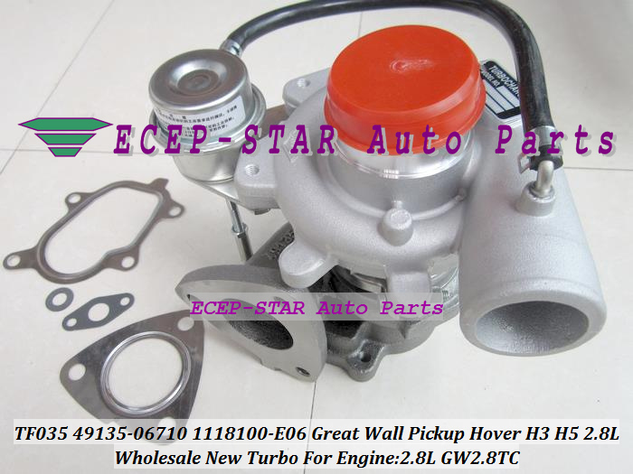 TF035HM 49135-06710 1118100E06 1118100-E06 49135 06710 4913506710 Turbo Per Great Wall Pick-Up Hover H3 H5 Haval 2.8T GW2.8T 2.8L image
