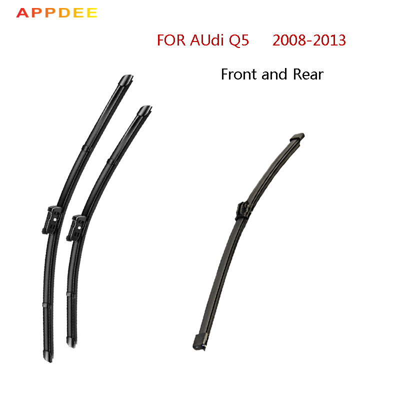 APPDEE Wiper Blades for Audi Q5 Fit Push Button Arms 2008