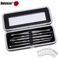 Hotrose 5pcs Blackhead Blemish Acne Remover Tool Pro Surgical Extractor Needle Skin Cleanser Kits with 10pcs alcohol pads