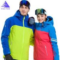 VECTOR Waterproof Men Women Ski Suits Winter Warm Skiing Snowboarding Jackets Pants Professional Snow Clothing Set