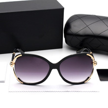 2017 Luxury Women Sunglasses Fashion Designer Brand Diamond Flower Metal Frame Retro Oculos De Sol Feminino With Original Box