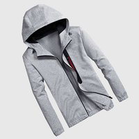2017 New Arrival Men Casual Cardigan Long Sleeves Hooded Knitting Sweatshirts Full Breathable Men Spring Autumn